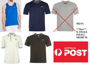NEW Slazenger Mens (Sizes XS, S, M) V Neck T-Shirt Muscle Polo Top Tee Shirt