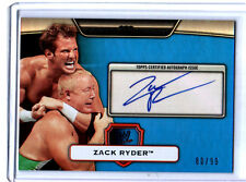 WWE Zack Ryder 2010 Topps Platinum BLUE Authentic Autograph Card SN 80 of 99