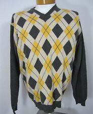 JOHN ASHFORD 100% CASHMERE LONG SLEEVE SWEATER SIZE L, MULTICOLORED