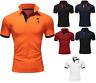 Behype Herren T-Shirt Slim Fit V-Neck Poloshirt Kurzarm Schwarz/Navy/Weinrot NEU