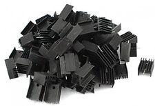 100 Pcs 21x15x10mm Black Aluminum Heatsink For TO-220 Transistor