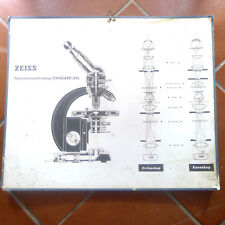 vintage old zeiss microscope advertise panel scientific instrument optic science