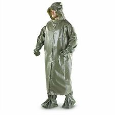 Czech Army Military New Surplus Chemical Suit Poncho Boot/Leggings Hood Gloves