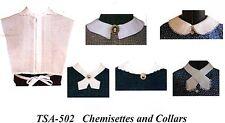 Civil War Style CHEMISETTES AND COLLARS Timeless Stitches PATTERN TSA-502