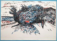 GIUSEPPE GUZZI (1902-1982) Lithographie Originale Signée 1970 Abstrait Paysage