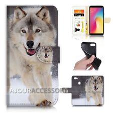 ( For Oppo A73 ) Flip Wallet Case Cover AJ21374 Wolf