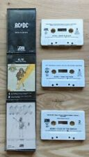 AC/DC 3 Cassette Lot High Voltage, Flick of the Switch, Back In Black AC DC ACDC