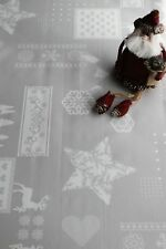 Christmas, grey Design  by WJDhome,Wipe clean TableclothOilcloth.Size140x300cm