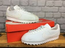 NIKE MENS UK 8 EU 42.5 WHITE NYLON SUEDE CLASSIC CORTEZ PHYLON TRAINERS
