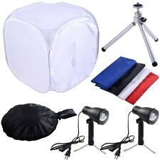 Photography 24'' Photo Softbox Kit Studio Shooting Tent Light Cube w/ Tripod
