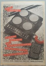 "SYNSONICS DRUMS #2 ORIGINAL  Magazine Advert Size 12"" X 17"" approx"