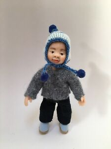 Ooak Doll Boy Handmade Miniature 1/12th Dolls House Child Sculpt Artisan