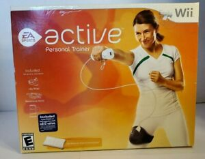 Nintendo Wii EA Active Personal Trainer Software Leg Strap Resistance Band New