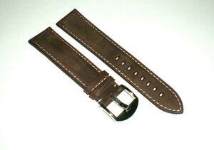 Echt Leder *Vintage* Uhrenarmband - braun 22mm - mit diversen Schließen - NEU!