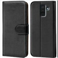 Handy Hülle Samsung Galaxy A6 Plus Cover Schutz Tasche Slim Flip Case Bookcase