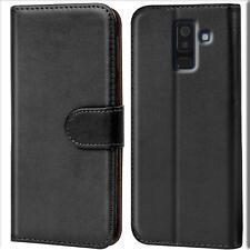 Handy Hülle Samsung Galaxy A6 Plus Cover Schutz Tasche Slim Flip Case Bookcase
