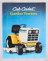 Vintage Cub Cadet Garden Tractors Advertising Brochure, VG+