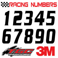 Racing Numbers Vinyl Decals Stickers Boat Car Bmx Bike Off Road Sprint Quad Serp