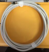 20Ft White Rg6 Digital HD Coax/Coaxial Satellite TV Cable Wire Cord