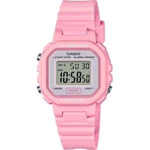 Children Kids Teen Casio Watch  LA-20WH-4A1EF Pink Polymere Strap Alarm