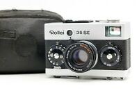 【N.MINT】 Rollei 35 SE 35mm Film Camera Sonnar 40mm f/2.8 Lens w/ Case From JAPAN