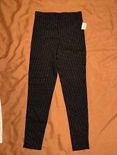 "PS / LA Pacsun Womens Black Pants White Stripes size Small Cropped Ankle 27.5"""
