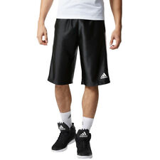 {AP0421} ADIDAS MEN'S BASIC 4 BASKETBALL SHORTS BLACK/WHITE