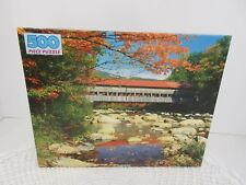 GOLDEN GUILD 500 PC JIGSAW PUZZLE ALBANY COVERED BRIDGE NEW HAMPSHIRE-NEW SEALED