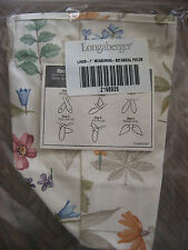 "New Longaberger Botanical Fields Fabric Liner 4 Your 7"" Measuring Basket BNIOB"