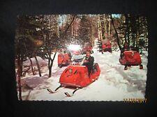 MOTO-SKI Snowmobile Post Card Factory Original 1960s Vintage NOS