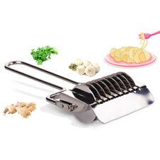 Stainless Steel Spaghetti Fettuccine Pasta Noodle Maker Machine Vegetable Cutter