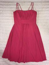 Nordstrom After Six Short Bridesmaid Formal Pink Empire Dress Sz 6 EUC #X11