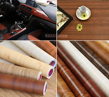 DIY Matte Glossy Wood Grain Textured Vinyl Wrap Sticker Decal Car Home Decors CB