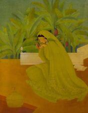Pakistani Woman : Abdur Rahman Chughta :  Mid-Century Modern Decor Art Print