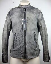 DIESEL L- EDGER GIACCA Leather Jacket Lederjacke Herren Gr.M NEU mit ETIKETT