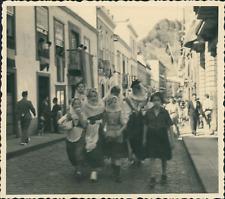 Espagne, La Palma, Santa Cruz, Costumes Traditionnels  Vintage silver print. P