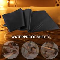 Master Series PVC Flat Sheet King Size Waterproof Play Fantasy Sheet -Black