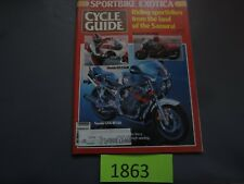 MAY 1985 CYCLE GUIDE MAGAZINE SUZUKI GSXR750, HONDA NS250R, KAWASAKO GPz400R