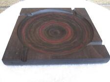 Vintage SHUR WOOD USA Modernist Geometric Wood Mid Century Modern Ashtray NICE!!
