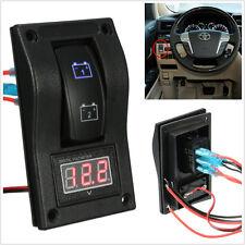 Marine Digital Battery Rocker Switch ON-OFF-ON Car Voltmeter LED Test Panel Boat