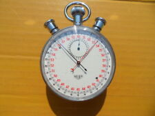 Vintage SWISS HEUER SPLIT RATTRAPANTE 15 Jewels Manual Stopwatch