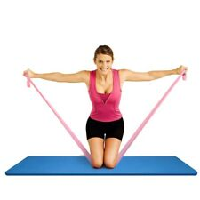 Elastic Yoga Pilates Stretch Resistance 1.5m Long Exercise Fitness Band Belt USA