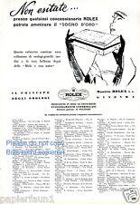 Armbanduhr Rolex Reklame von 1954 Italien Uhr Geschenk Werbung ad watch