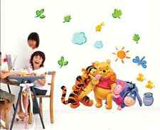 Winnie The Pooh Wall Decals Kids Bedroom Baby Nursery Stickers Art Decor Room RT