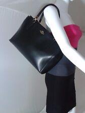 Coach Black Leather Christie Carryall Handbag Tote F34672