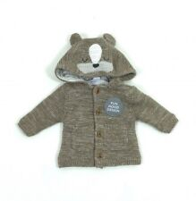 Ex Marks /& Spencer baby boys dog grey hooded cardigan newborn to 12 m rrp £18