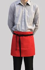 Brand New Red Waitress Bar Short Apron Chef Catering Cafe Front Of House Pocket