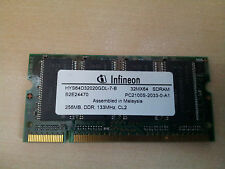 Modulo RAM SODIMM 256Mb  PC2100S CL2