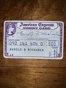 Very Rare Vintage 1960s American Express Credit Card Bank Card Charge Card