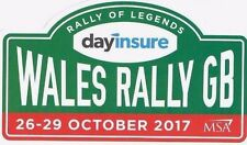 "Official Wales Rally GB STICKER  ""NEW"" 2017"